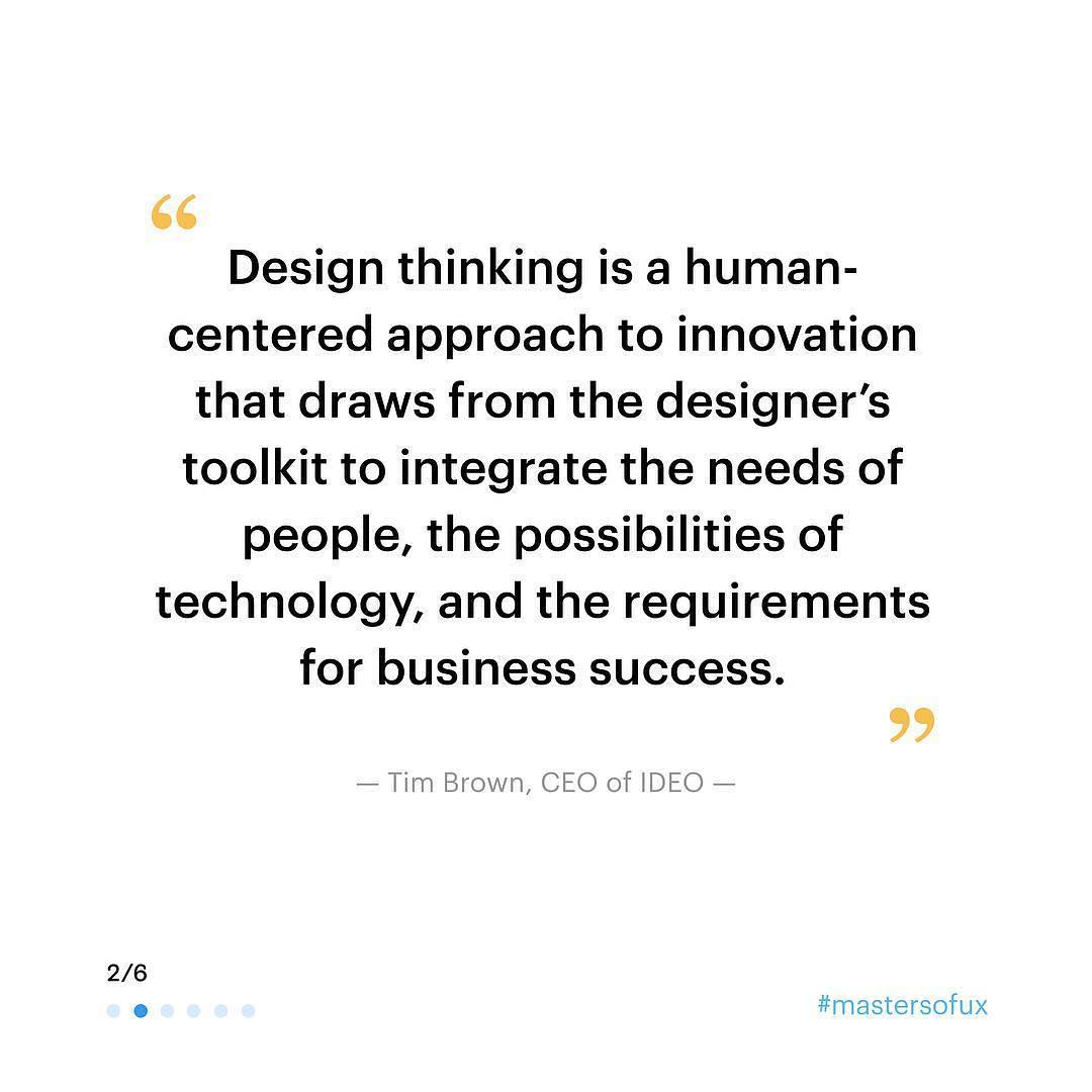 """Design thinking is a human-centered approach to innovation that draws from the designer's toolkit to integrate the needs of people, the possibilities of technology, and the requirements for business success."""