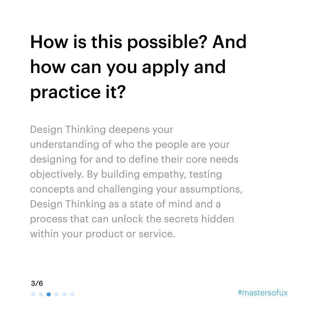 How is this possible? And how can you apply and practice it? Design Thinking deepens your understanding of who the people are your designing for and to define their core needs objectively. By building empathy, testing concepts and challenging your assumptions, Design Thinking as a state of mind and a process that can unlock the secrets hidden within your product or service.