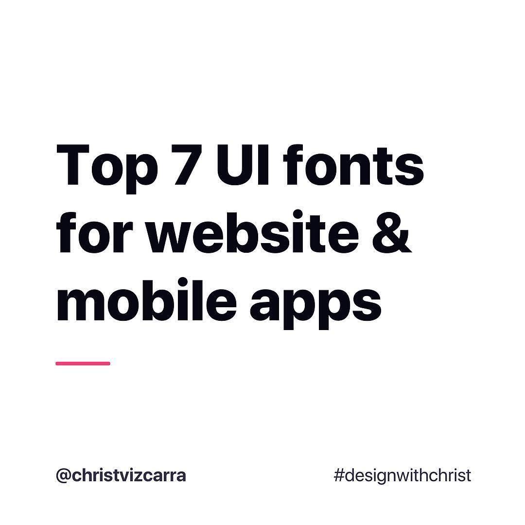 Top 7 UI fonts for website & mobile apps