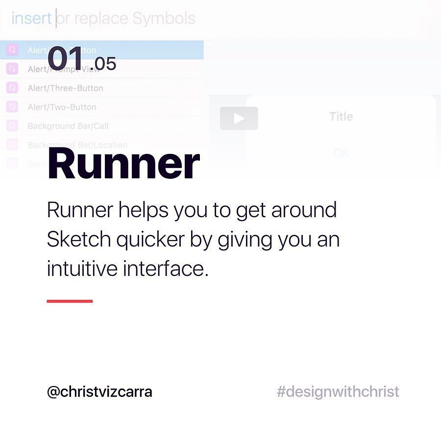 Runner. Runner helps you to get around Sketch quicker by giving you an intuitive interface.