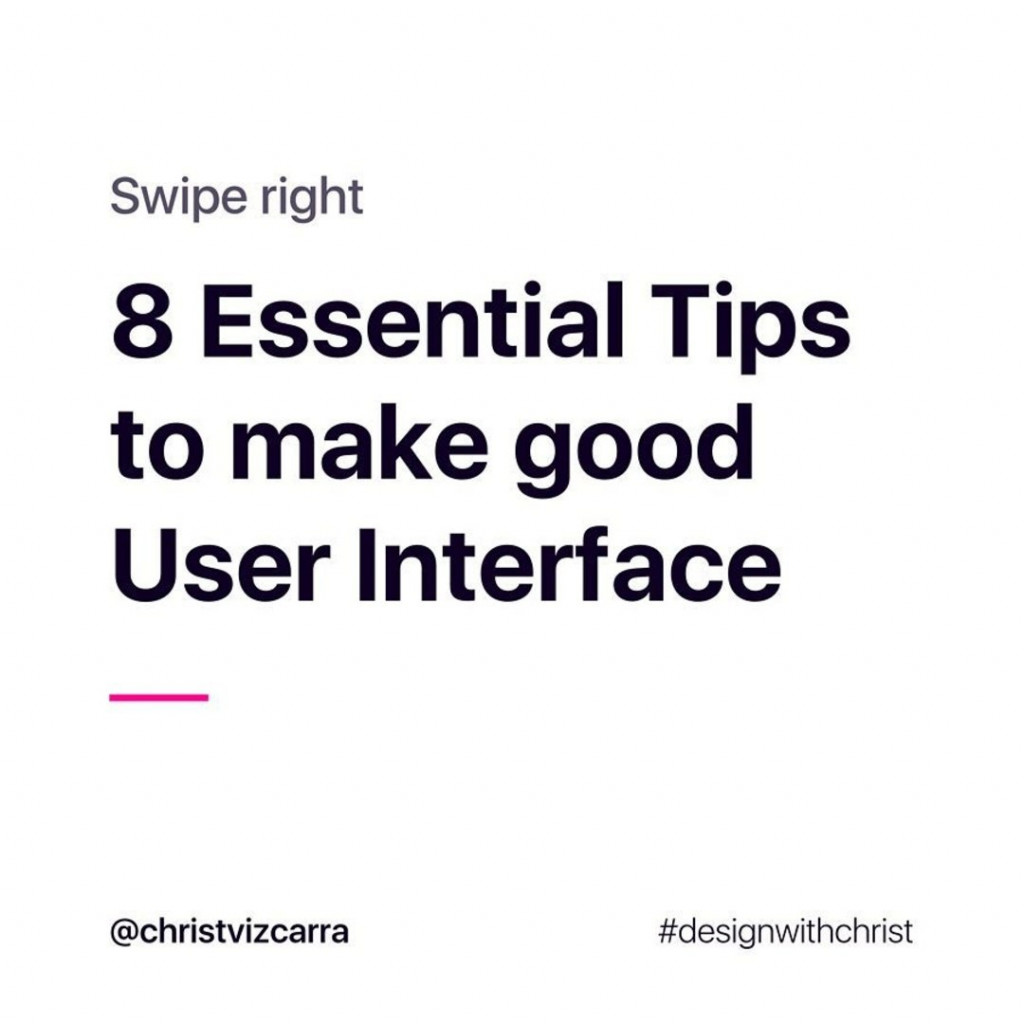8 Essential Tips to make good User Interface