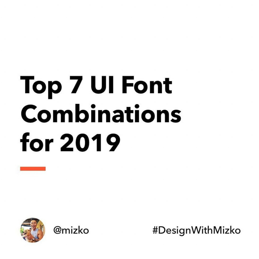 Top 7 UI Font Combinations for 2019