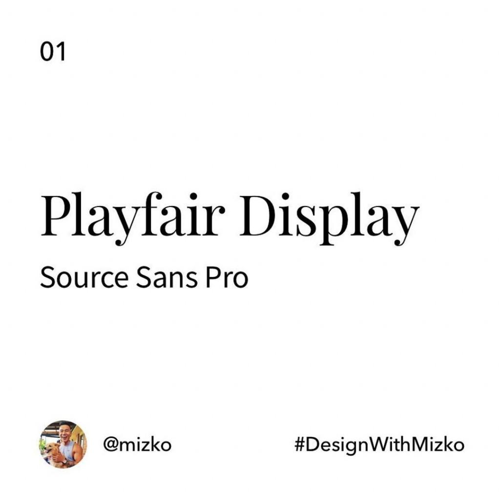 Playfair Display + Source Sans Pro