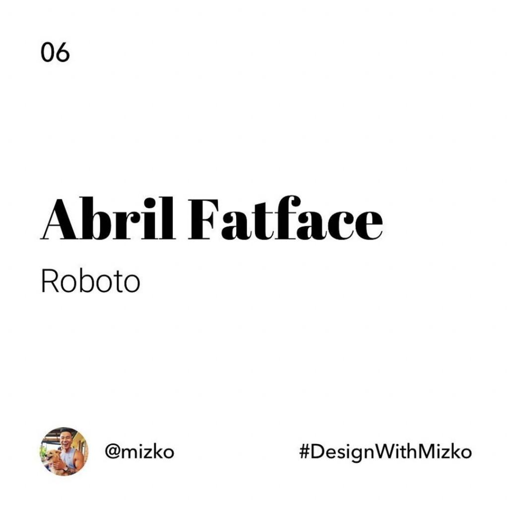 Abril Farface + Roboto