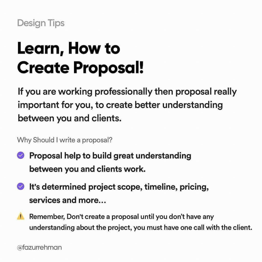 Learn, how to create proposal! If you are working professionally then proposal really important for you, to create better understanding between you and clients.