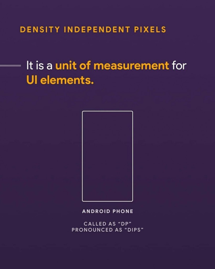 Density independent pixels. It is a unit of measurement for UI elements