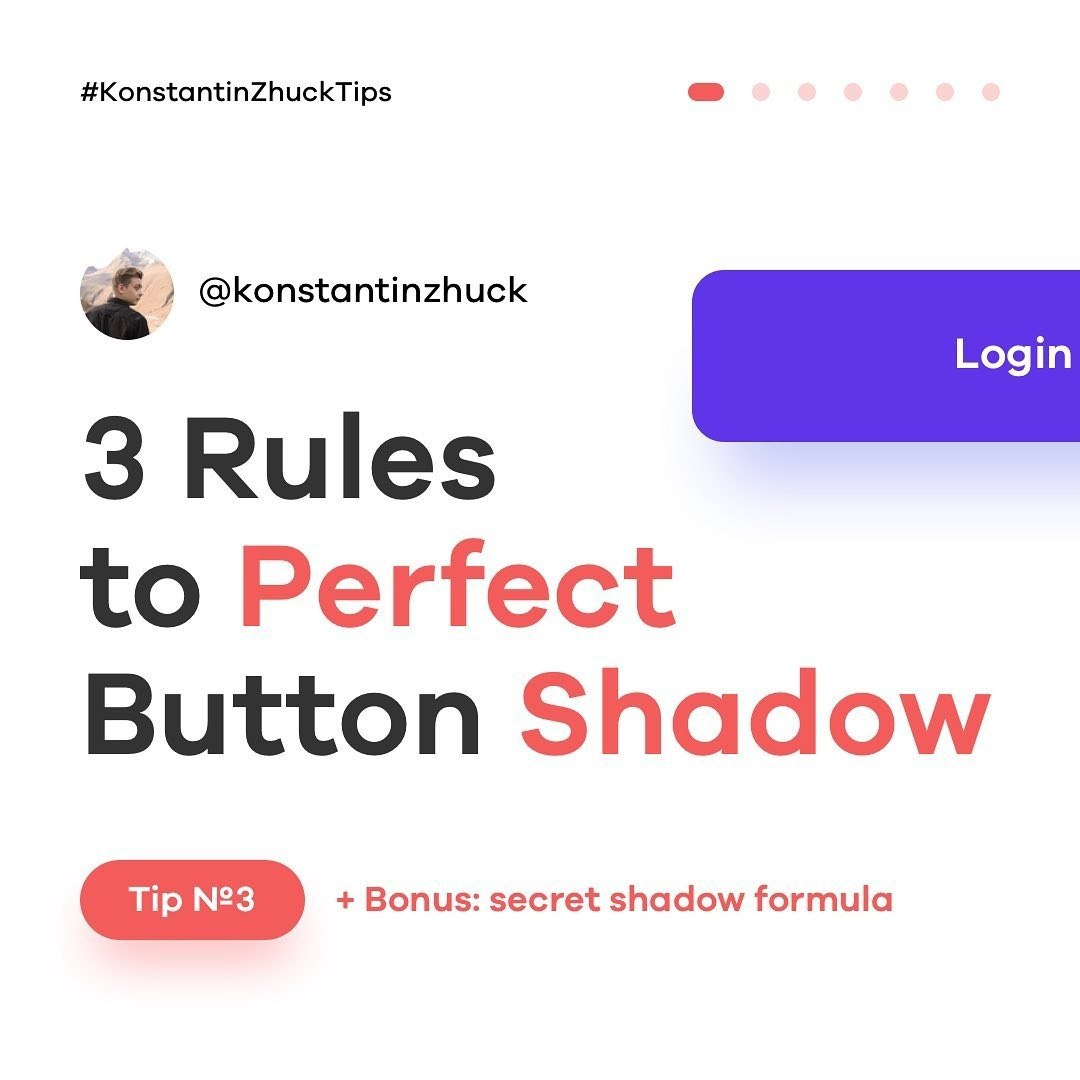 3 Rules to Perfect Button Shadow