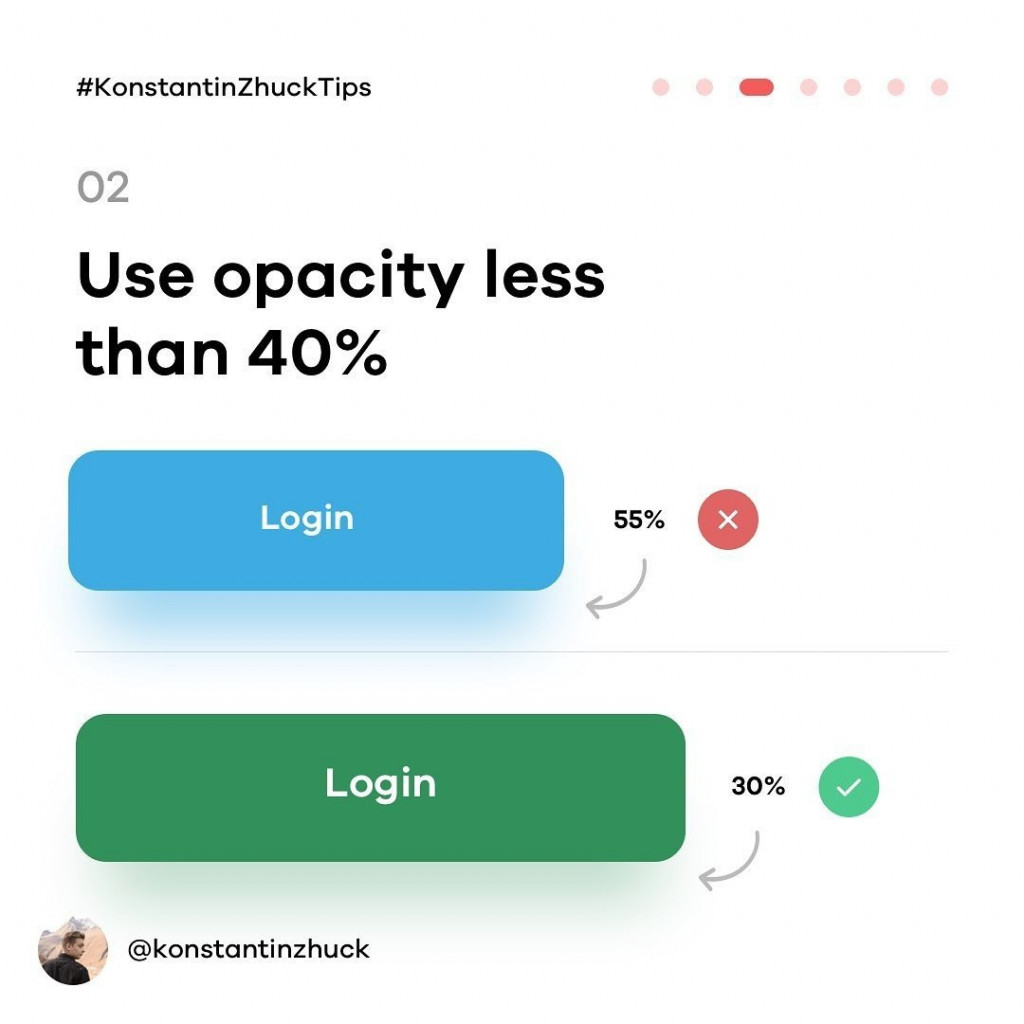 2. Use opacity less the 40%