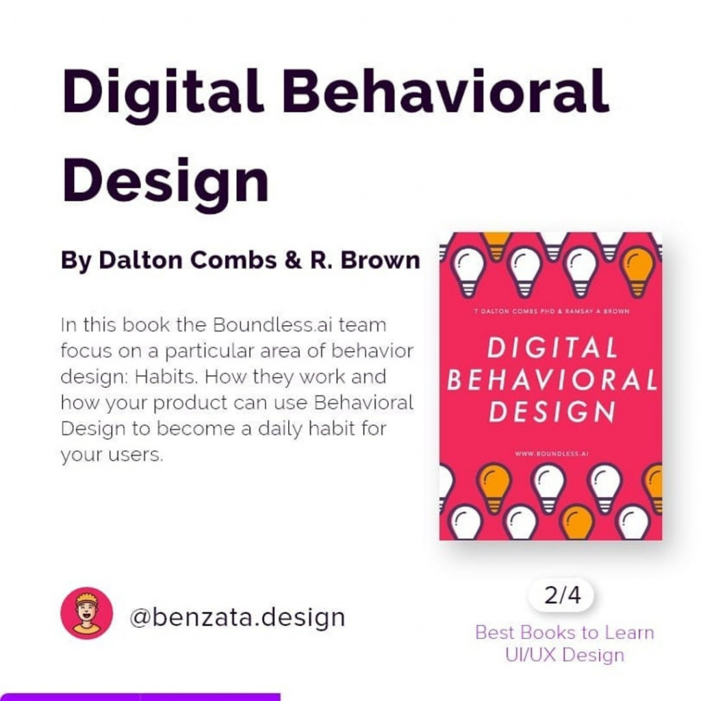 Digital Behavioral Design by Dalton Combs & R. Brown. In this book the Boundless.ai team focus on a particular area of behavior design: Habits. How they work and how your product can use Behavioral Design to become a daily habit for your users.