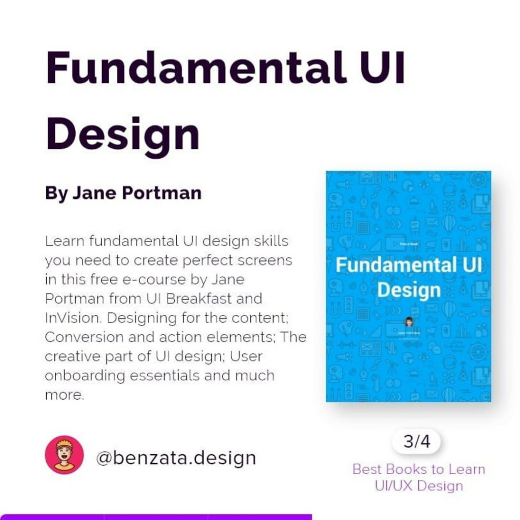Fundamental UI Design by Jane Portman. Learn fundamental UI design skills you need to create perfect screens in this free e-course by Jane Portman from UI Breakfast and InVision. Designing for the content: Conversion and cation elements: The creative part of UI design: User onboarding essentials and much more.