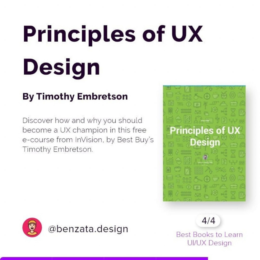Principles of UX Design by Timothy Embretson. Discover how and why you should become a UX champion in this free e-course from InVision, by Best Buy's Timothy Embretson.