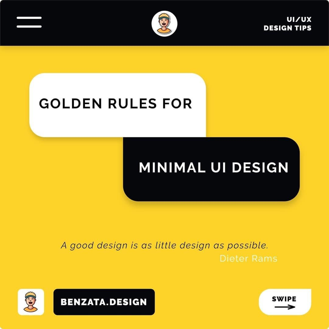 Golden Rules for Minimal UI Design