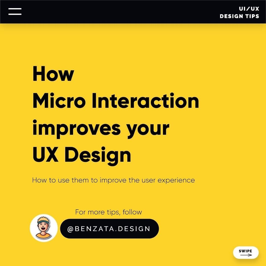 How Micro Interaction improves your UX Design