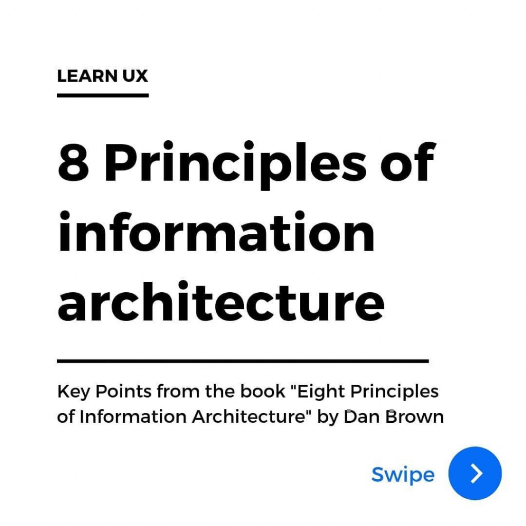 8 Principles of information architecture.