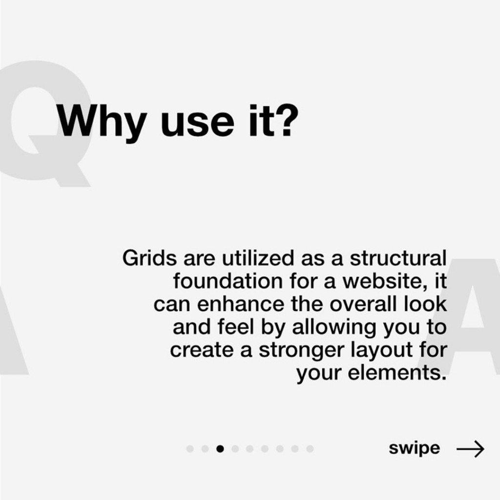 Why use it?  Grids are utilized as a structural foundation for a website, it can enhance the overall look and feel by allowing you to create a stronger layout for your elements.