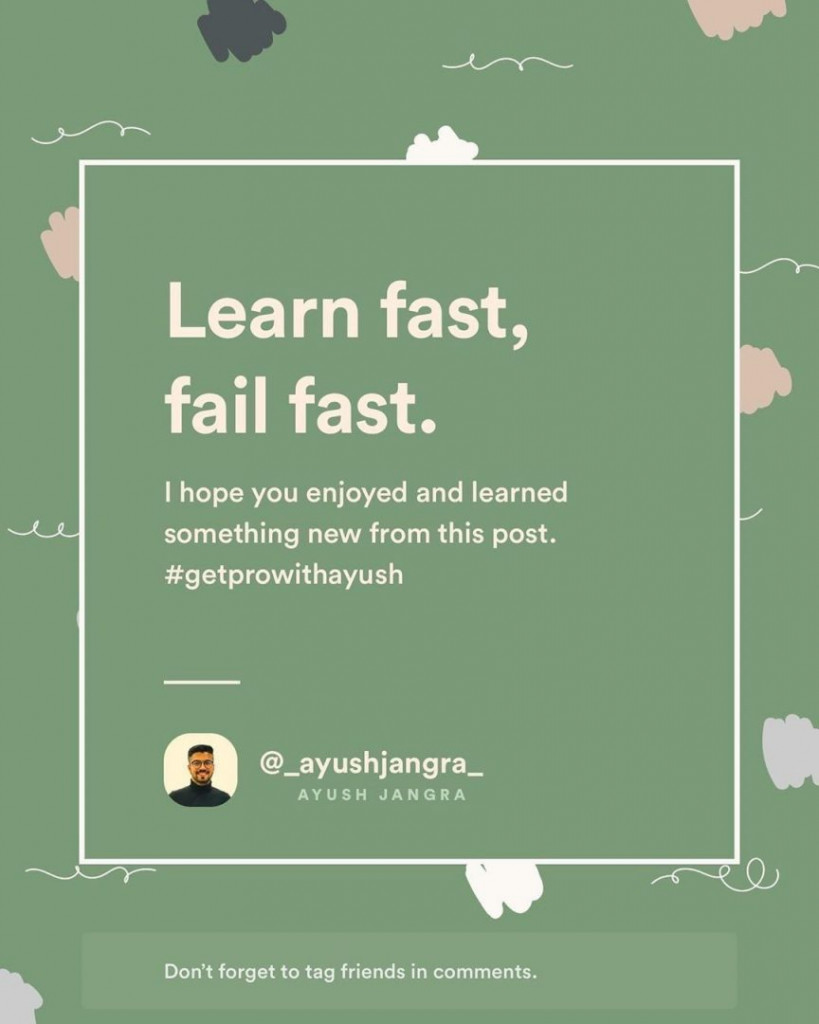 Learn fast, fail fast.  I hope you enjoyed and learned something new from this post.