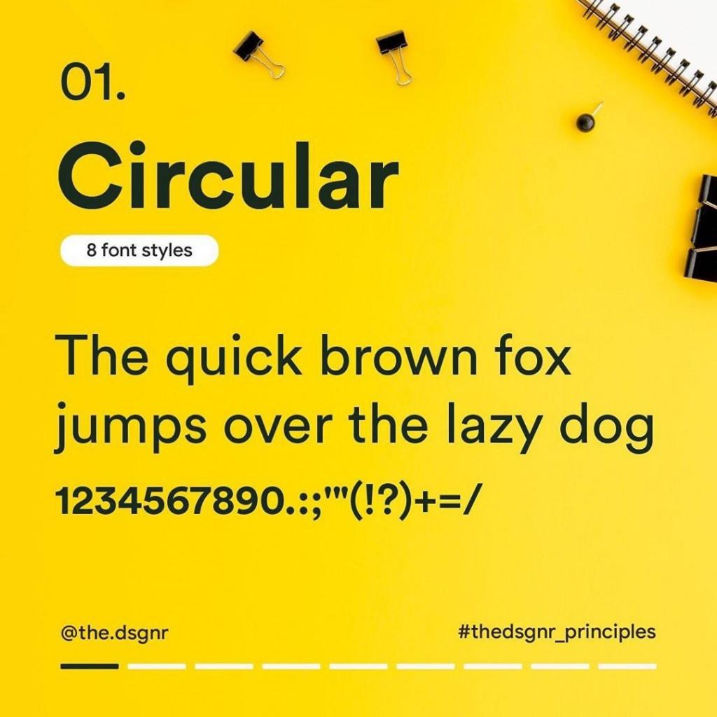 1. Circular (8 font styles)