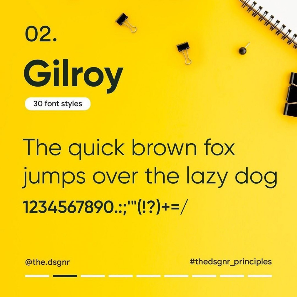 2. Gilroy (30 font styles)