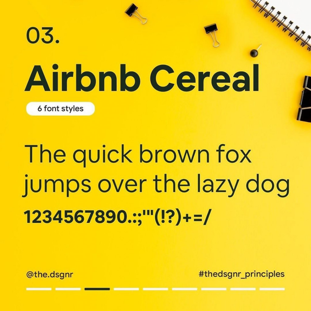 3. Airbnb Cereal (6 font styles)