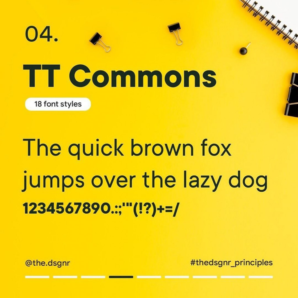 4. TT Commons (18 font styles)