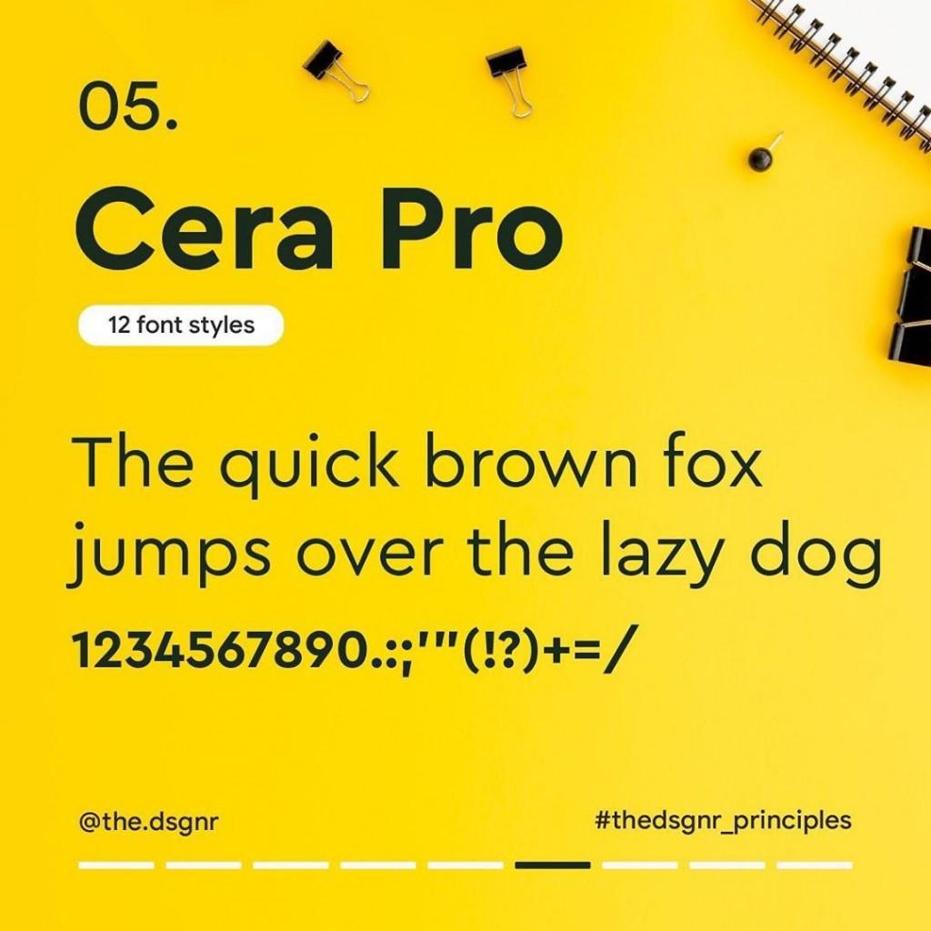 5. Cera Pro (12 font styles)