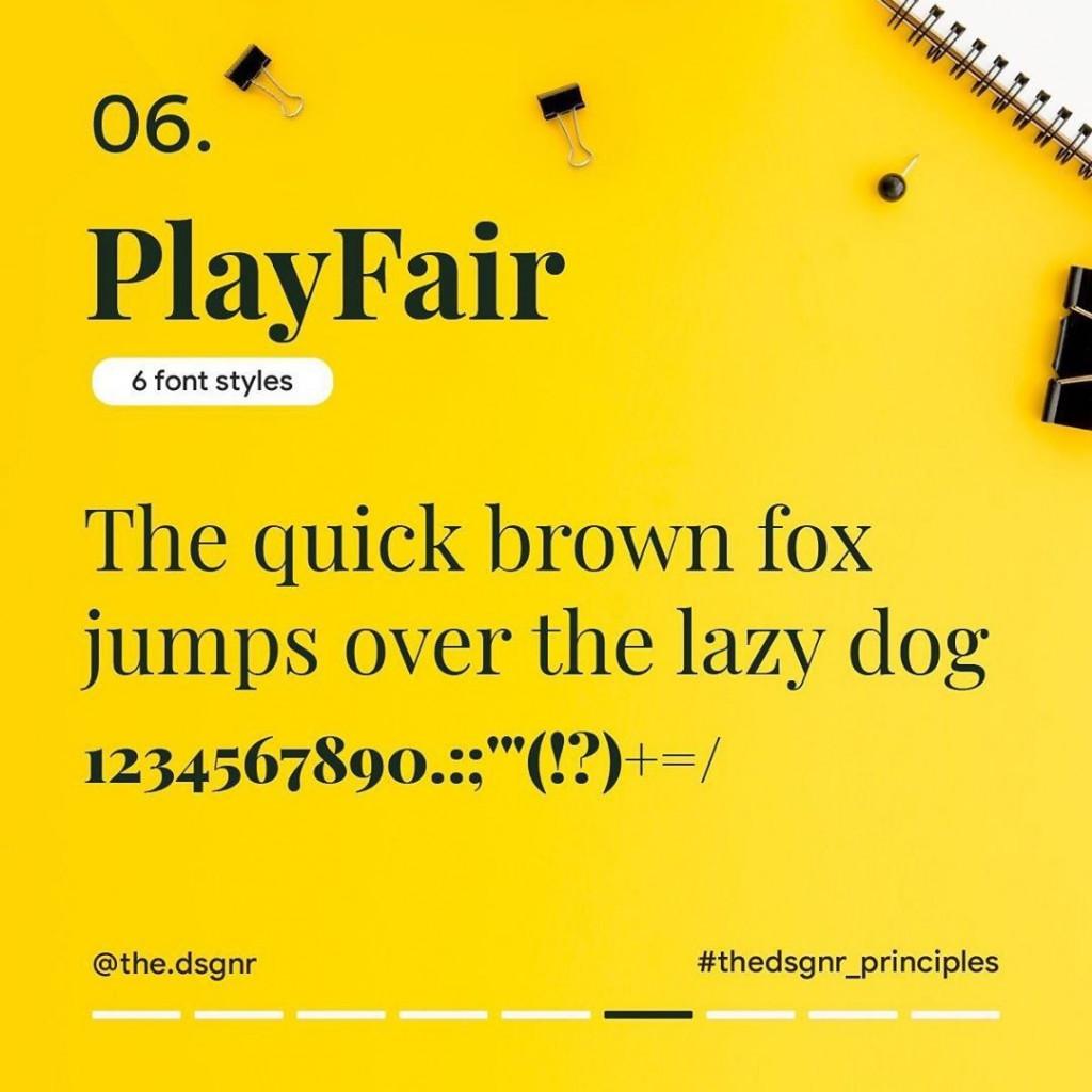 6. PlayFair (6 font styles)