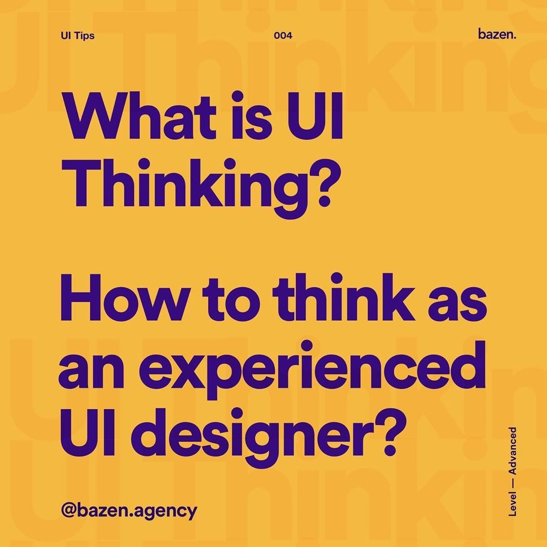 What is UI Thinking?
