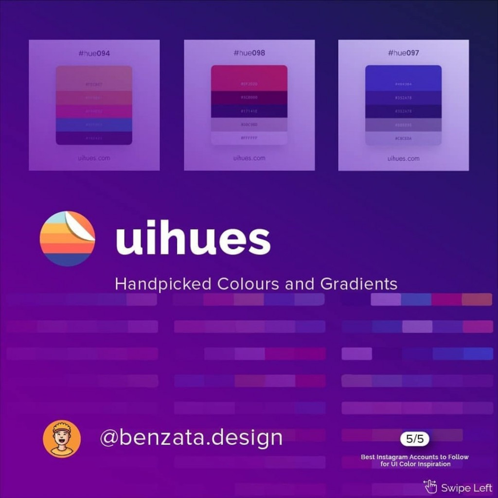@uihues  Handpicked Colours and Gradients