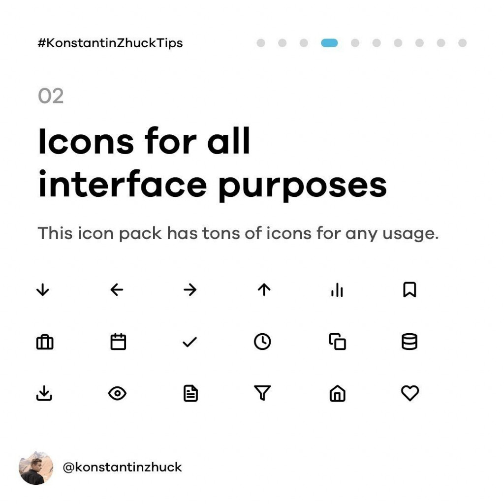 Icons for all interface purposes  This icon pack has tons of icon for any usage.