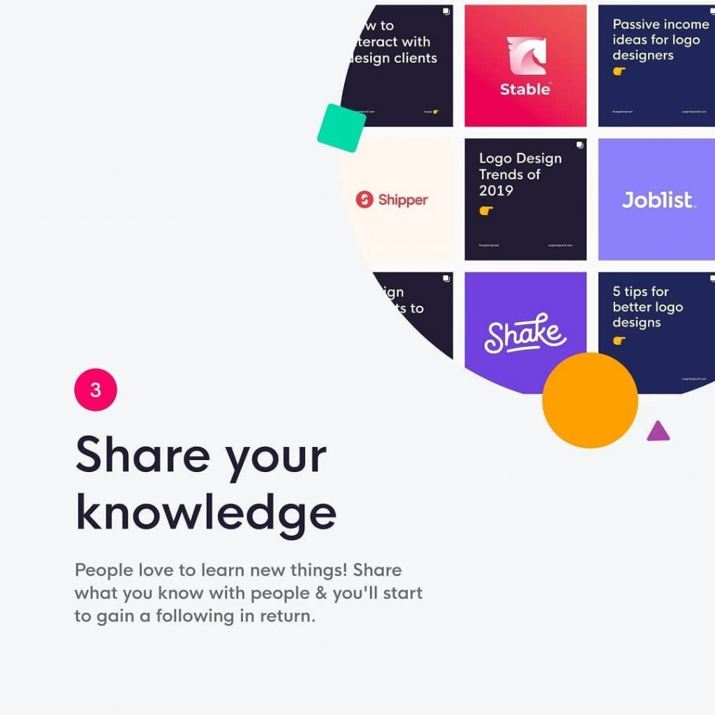 3. Share your knowledge  People love to learn new things! Share what you know with people & you'll start to gain a following in return.