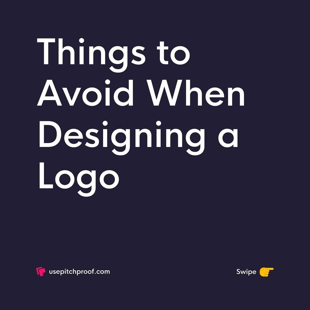 Things to Avoid When Designing a Logo