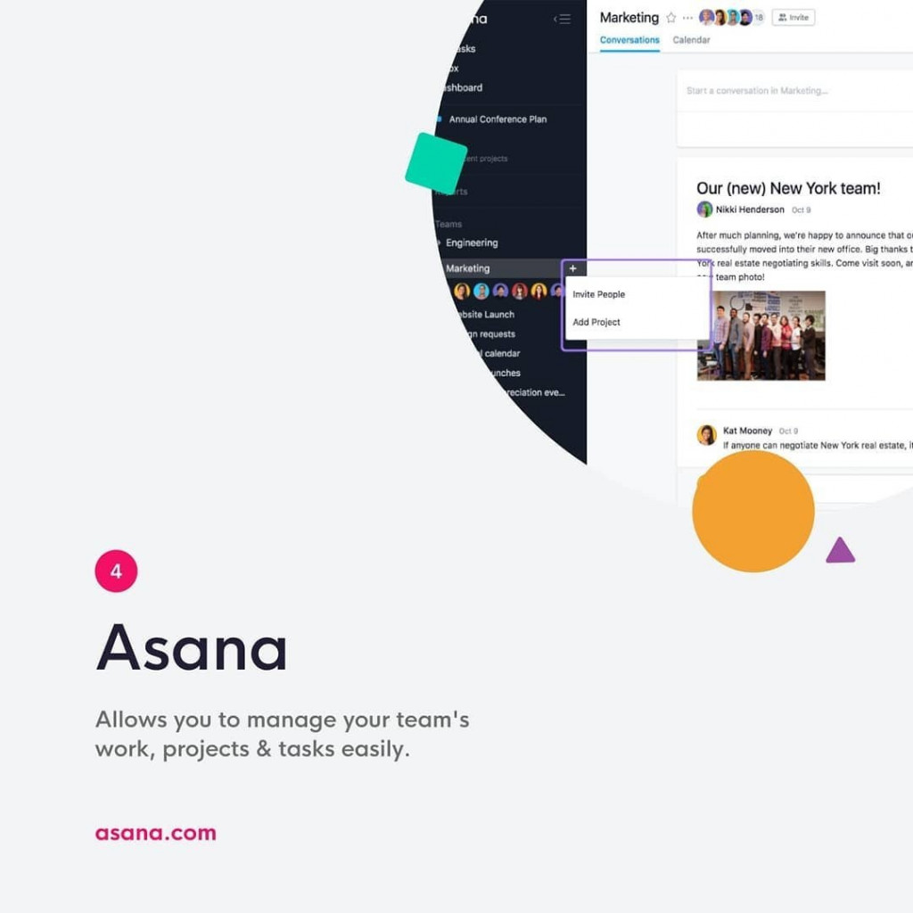Asana  Allows you to manage your team's work, projects & tasks easily.  asana.com