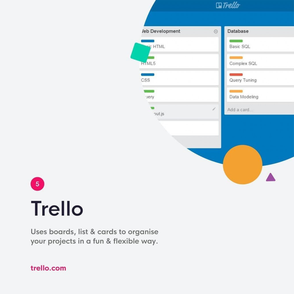 Trello  Uses boards, list & cards to organise your projects in a fun & flexible way.  trello.com