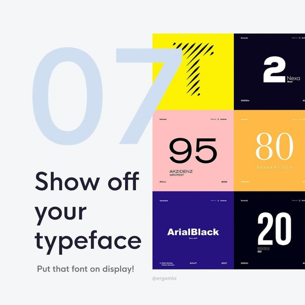 7. Show off the typeface⁣  Put that font on display!