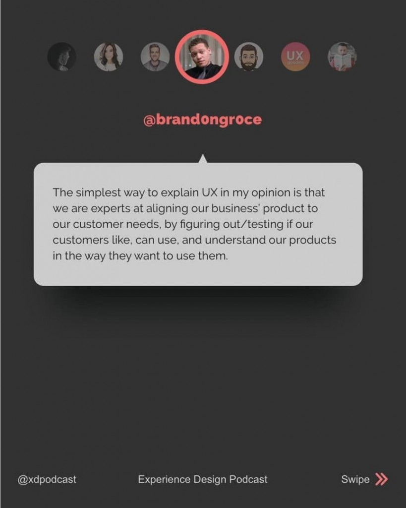@brand0ngr0ce  The simplest way to explain UX in my opinion is that we are experts at aligning our business' product to our customer needs, by figuring out/testing if our customers like, can use, and understand our products in the way they want to use them.