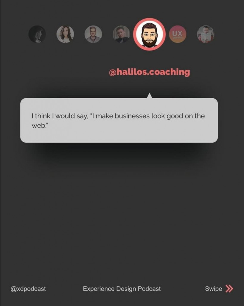 "@halilos.coaching  I think I would say, ""I make businesses look good on the web."""