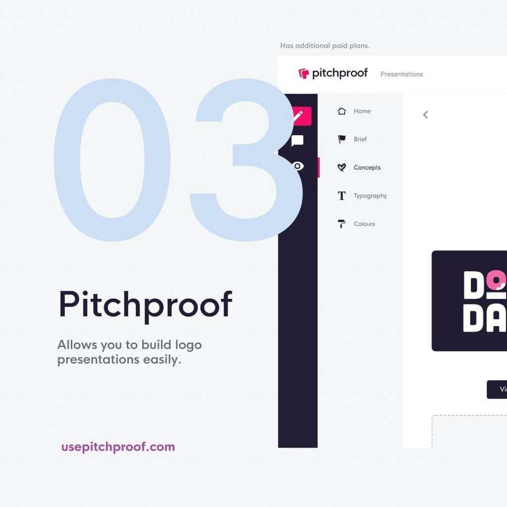 3. @usepitchproof allows you to build logo presentations easily.