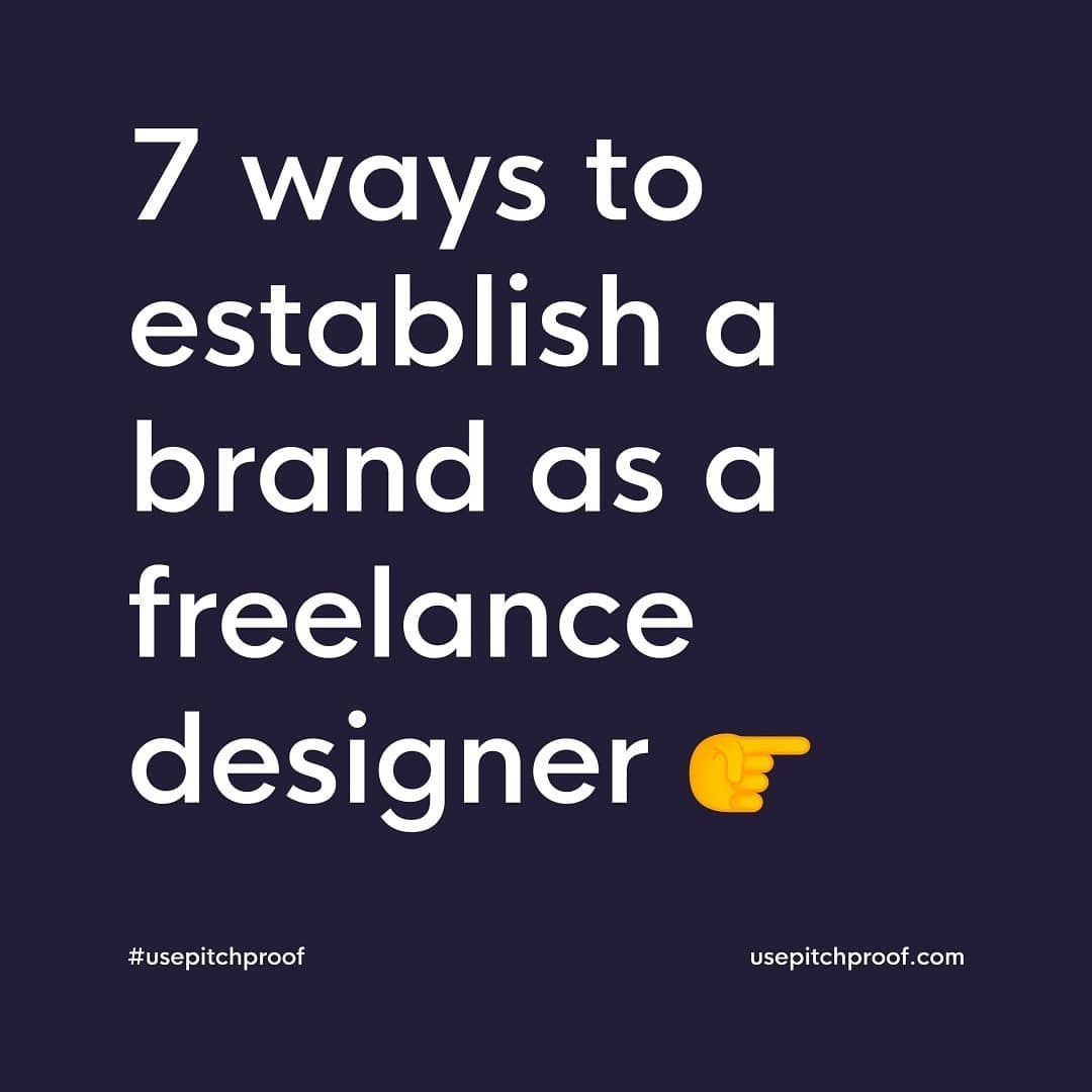 7 Ways to Establish a Brand as a Freelance Designer⁣