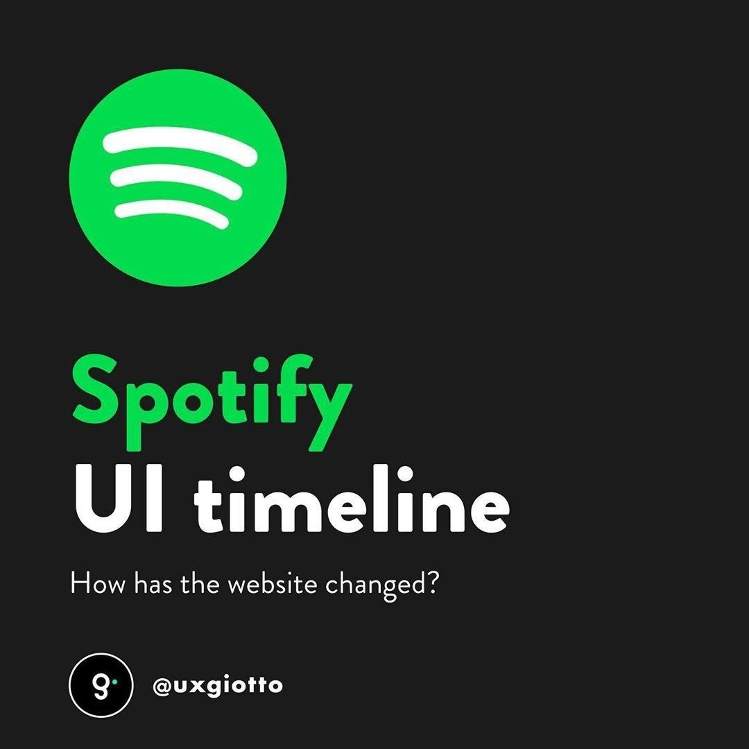 Spotify UI Timeline