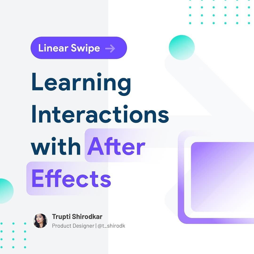 Learning Interactions with After Effects