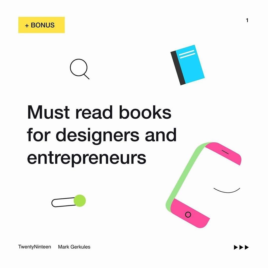 Must read books for designer and entrepreneurs