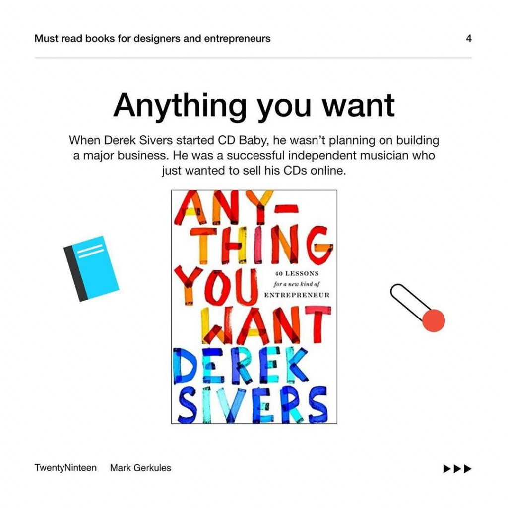 Anything you want  When Derek Sivers started CD Baby, he wasn't planning on building a major business. He was a successful independent musician who just wanted to sell his CDs online.