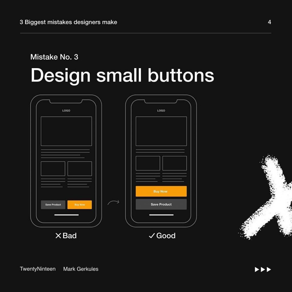 3. Design small buttons