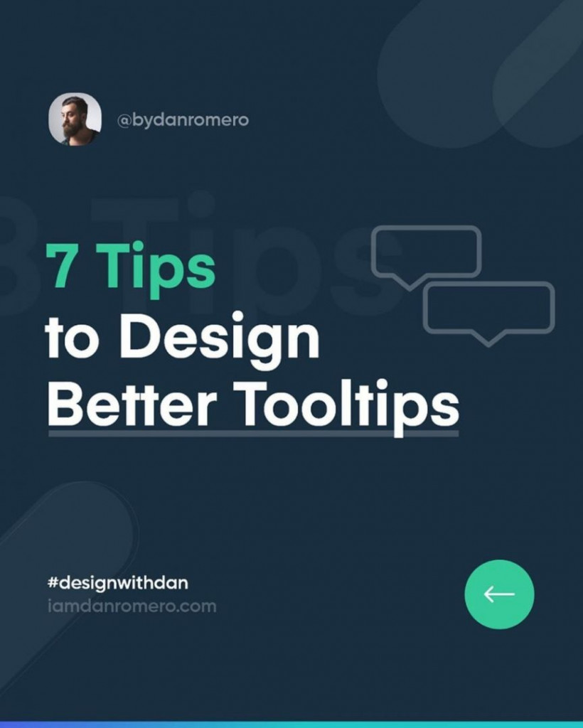 7 Tips to Design Better Tooltips