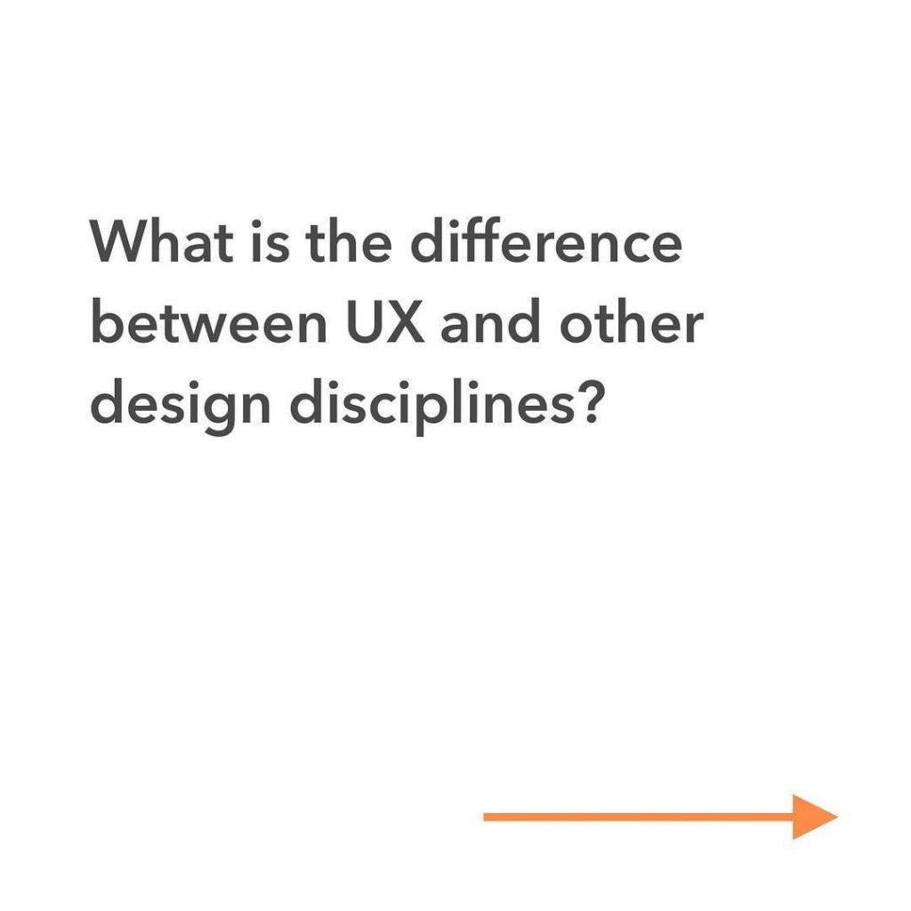 What is the difference between UX and other design disciplines?
