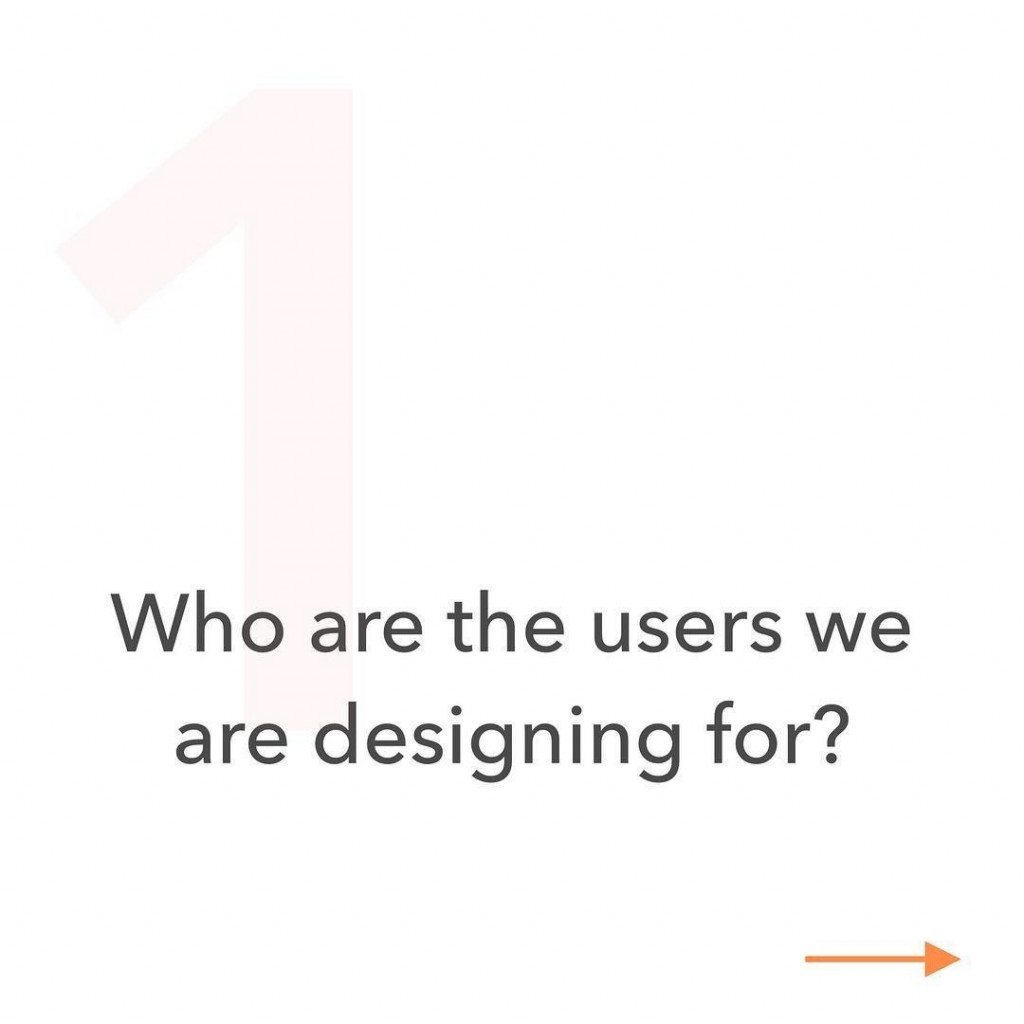 1. Who are the users we are designing for?