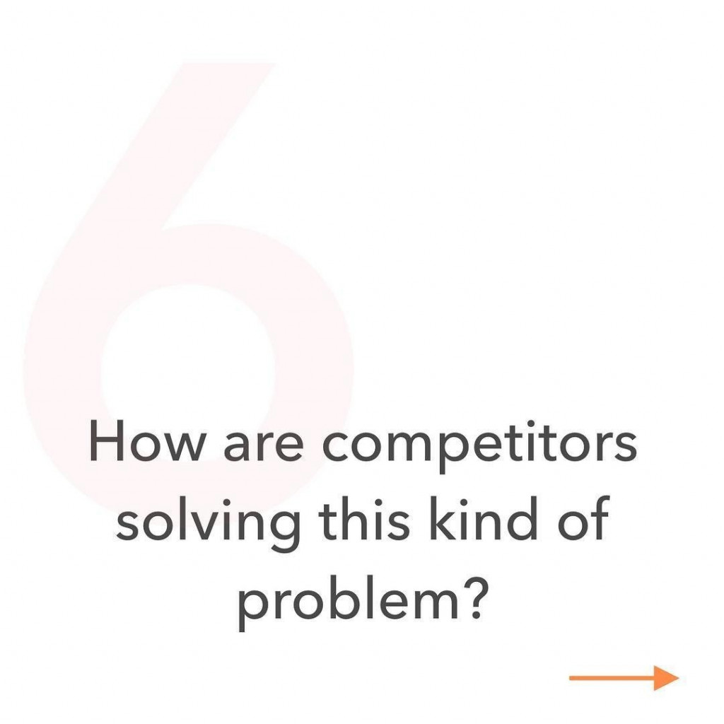 6. How are competitors solving this kind of problem?