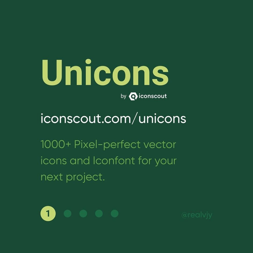 1. Unicons by @iconscout  1000+ Pixel-perfect vector icons and Iconfont for your next project.