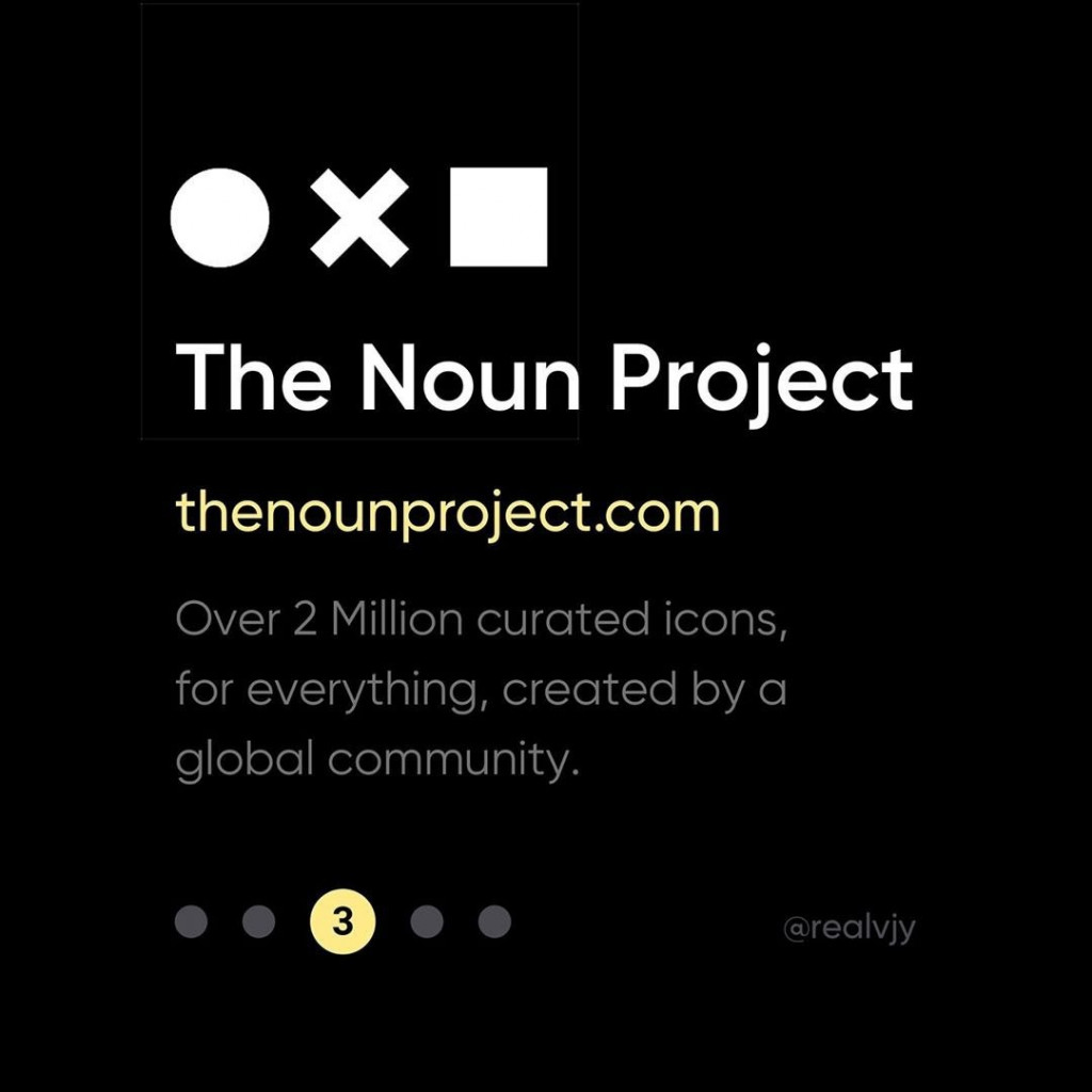 3. The Noun Project  thenounproject.com  Over 2 Million curated icons, for everything, created by a global community.
