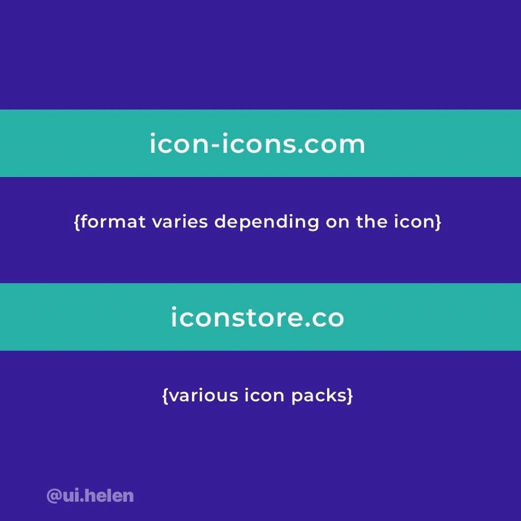 5️⃣ icon-icons.com (format varies depending on the icon)  6️⃣ iconstore.co (various icon packs)